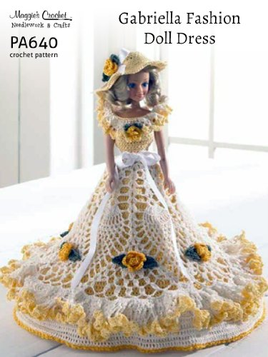 Crochet Pattern Gabriella Fashion Doll Dress PA640-R