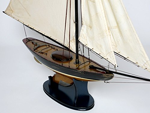 for MODEL SHIP WOODEN MODEL SHIP SAILING BOAT OLD ANTIQUE QUALITY PRECIOUS FUEL FUEL + BRILLIBRUM FLYER