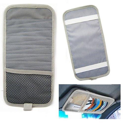 Car Visor Cd Holder Auto Organizer Holds 12 Cds Grey Sun Visor Disk Disc Cover ! front-648283