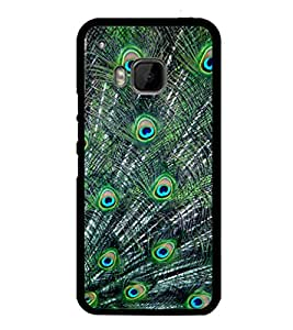 printtech Peacock Feathers Back Case Cover for HTC One M9::HTC M9