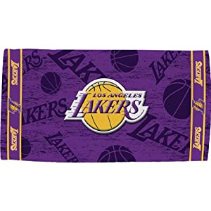 Buy McArthur Los Angeles Lakers 30'' x 60'' Purple Beach Towel by NBA Store