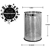 King International Perforated Stainless Steel Dustbin 10x15 Inch
