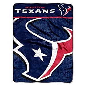 NFL Houston Texans Living Large Micro Raschel Throw Blanket, 46x60-Inch by Northwest