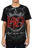 Slayer - Jumbo Black Eagle Pentagram Mens T-shirt in Black
