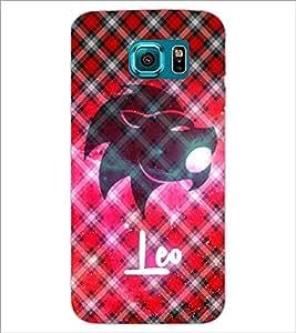 PrintDhaba Zodiac Leo D-3240 Back Case Cover for SAMSUNG GALAXY S6 (Multi-Coloured)