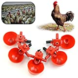 Poity Feed Automatic Bird Coop Poultry Chicken Fowl Drinker Water Drinking Cups 5 Pieces
