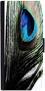 Snoogg Peacock Feather Background Designer Protective Phone Flip Case Cover For Coolpad Note 3