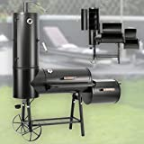 130kg Profi Smoker BBQ Grill Grillwagen Holzkohle 3,5mm Stahl Massiv Vertikal