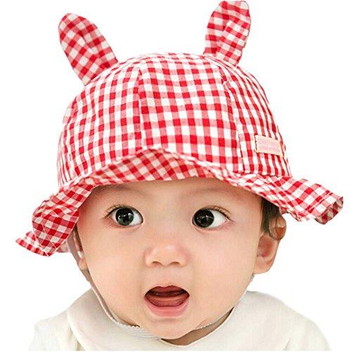 AIIGOU-bb-Enfants-chapeaux-de-soleil-en-coton-biologique-Fisherman-Bucket-Caps-Protection-de-crabe