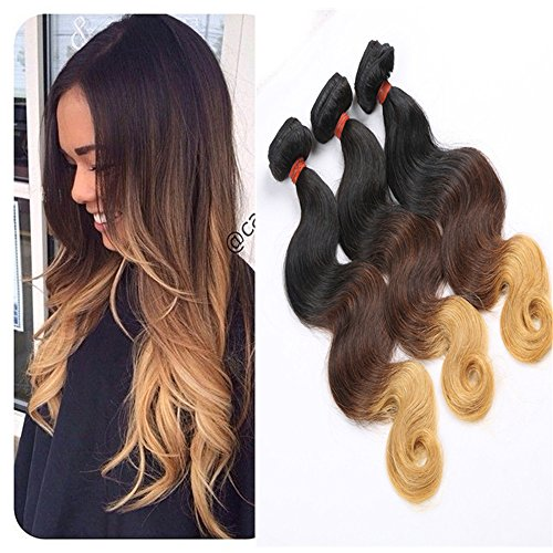 E-forest-hair-Weave-For-Women-7A-Virgin-100-Brazilian-Remy-Human-Hair-WeftWeave-Extension-Body-Wave-3-Tone-Ombre-Color-3-Bundles-300g-SD-02-Size-10-10-10