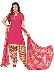 Women Icon Presents Pink Printed Un-Stitched Dress Material WICKFRPSP1414006