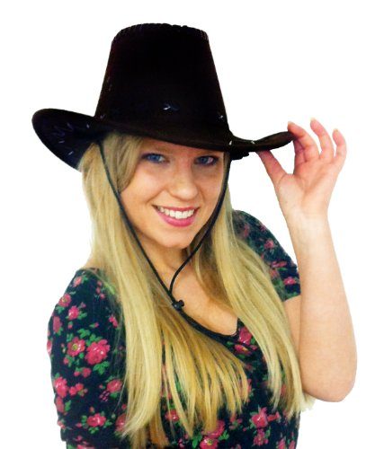 12 X, IN PELLE SINTETICA, STILE COWBOY STETSON WICKED COSTUMES-CAPPELLO WESTERN WILD WEST