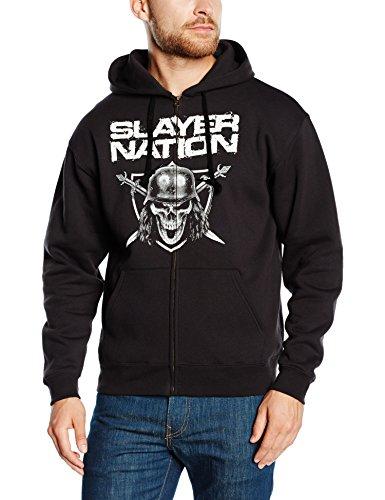 Slayer - Nation, Giacca con cappuccio da uomo, nero (black), S