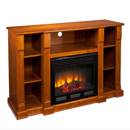 SEI AMZ7839E Kendall Electric Media Fireplace, Glazed Pine image B009L1T6YU.jpg