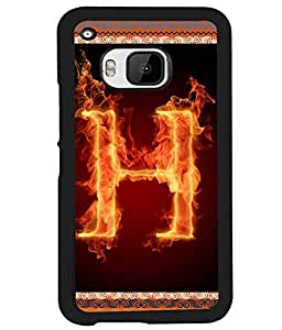Printvisa 2D Printed Alphabet H Designer back case cover for HTC One M9 -D4197