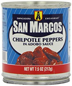 San Marcos Chilpotle Peppers in Adobo Sauce, 7.5 Oz., (Pack of 4 Cans)