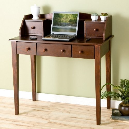 Buy Low Price Comfortable Aurora Collection – Computer Desk, Espresso Finish (B001NFXL48)