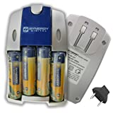 Fujifilm FinePix HS10 Digital Camera Battery Charger Replacement of 4 AA NiMH 2800mAh Rechargeable Batteries, with Charger - UK Adapter Included
