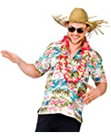 Mens Hawaiian Fancy Dress Shirt Beach Luau Aloha Summer Party Floral / Palm Tree