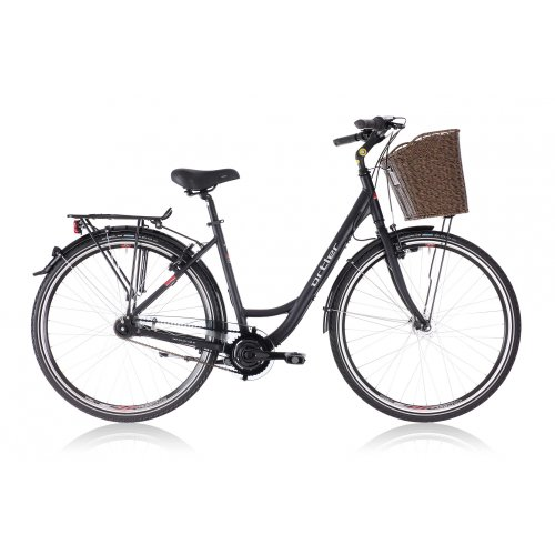 Ortler Monet Ladies Damen, black matte black (2013) (Size: 45 cm) City bike womens 7 Speed