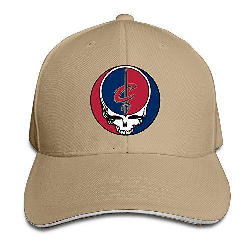 k-fly2-unisex-adjustable-grateful-dead-cleveland-cavaliers-baseball-caps-hat-one-size-natural