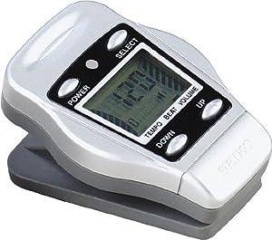 Seiko DM50S Clip Digital Metronome (Silver)
