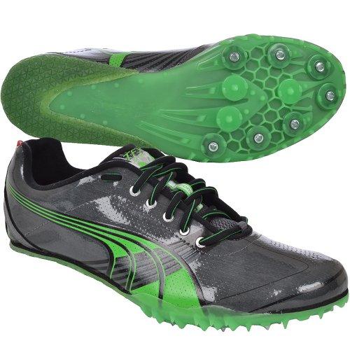 PUMA Mens Complete TFX Sprint 3 Athletic Running Track Spikes - Dark Shadow/Green
