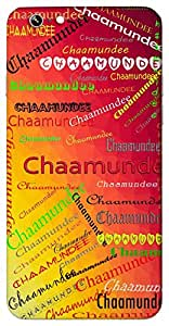 Chaamundee (Hindu Goddess Form of Durga) Name & Sign Printed All over customize & Personalized!! Protective back cover for your Smart Phone : Samsung Galaxy A-3