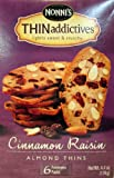 Nonnis Thin Addictives: Cinnamon Raisin Almond Thins (Pack of 3) 4.4 oz Boxes
