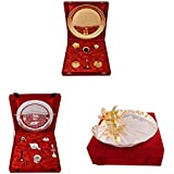 Gold Plated GL Pooja Thali Set,Silver Plated Royal Pooja Thali Set And Silver And Gold Plated Lotus Pooja Thali