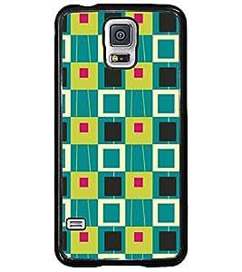 Printvisa Multicolour Square Patterns Back Case Cover for Samsung Galaxy S5 Mini::Samsung Galaxy S5 Mini G800F