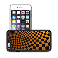 buy Luxlady Premium Apple Iphone 6 Plus Iphone 6S Plus Aluminum Backplate Bumper Snap Case Image Id 30637198 Abstract Fractal Background With Curved Square Checkers