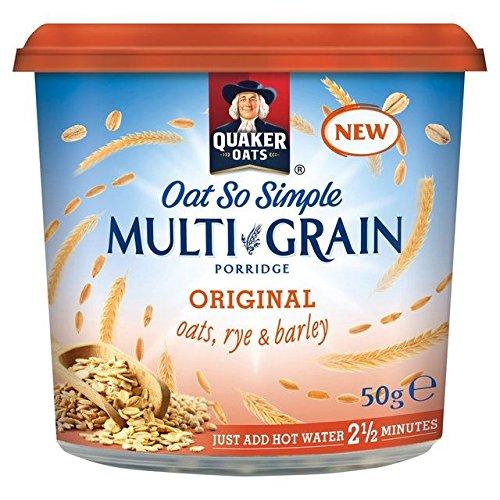 Quaker Oat So Simple MultiGrain Original Pot - 50g (Quaker Multigrain Hot Cereal compare prices)