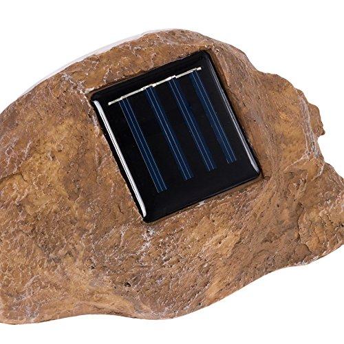 Greenlighting Solar Outdoor Garden Led Rock Spot Light Tan 2 Pack Home Flood Lights