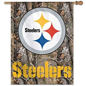 Pittsburgh Steelers RealTree Camoflage Flag or Banner from SteelerMania