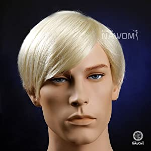 High Quality Handsome Gentle Mens Short Straight Blond Hair Wigs European from Shenzhen Lotmusic Technology Co.,Ltd