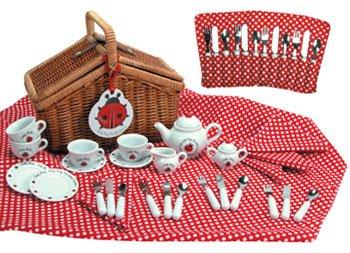 Schylling 117069 Ladybug Tea Set Basket