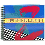 """BookFactory® Autograph Journal / Autograph Book - 48 Pages, Wire-O With Laminate Color Cover, Page Size 6"""" x 5"""" (LOG-048-CCW-A(AUTOGRAPH))"""