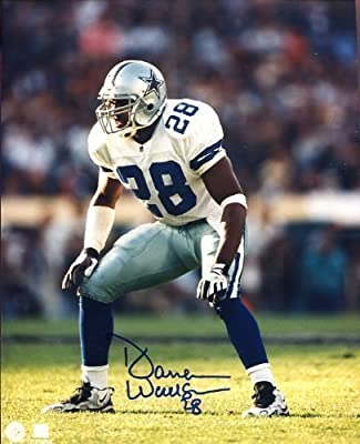 Darren Woodson (Dallas Cowboys 1992-2004) Autographed/ Original Signed 8x10 Photo Showing Him with the Cowboys - He Was Part of Three Dallas Cowboy Super Bowl Championship Teams