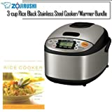 Zojirushi NS-LAC05XT Micom 3-Cup Rice Cooker and Warmer,...
