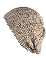 Senchanting Women Winter Warm Ski Knitted Crochet Baggy Skullies Cap Beret Hat