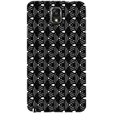 Circular Black Pattern Hard Polycarbonate Designer Back Case Cover For Samsung Galaxy Note 3 :: Samsung Galaxy...