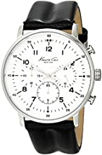 Kenneth Cole New York Men's KC1568 Iconic Chronograph Black Leather Strap Dress Watch