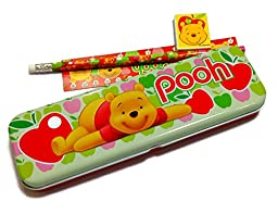 Pooh and Friends Stationery Metal Pencil Box Set