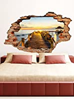 Ambiance-sticker Vinilo Decorativo Dock And Sunset View