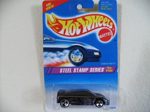 Hot Wheels Zender Fact 4 #287 1995 Steel Stamp Series #2 Black W/3sp's - 1