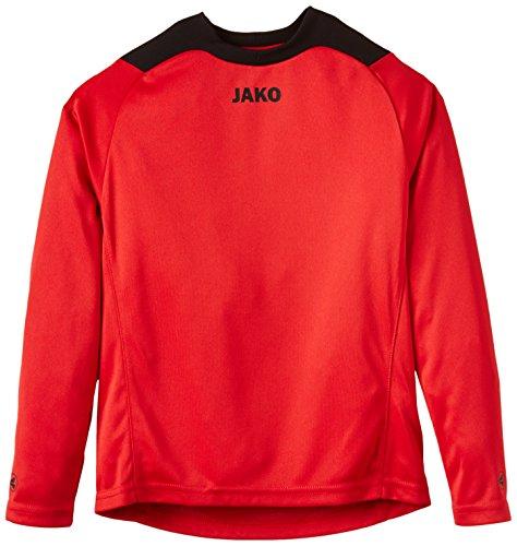 JAKO Torwarttrikot Copa – Camiseta de portero de fútbol para niño, color rojo / negro, talla 6 años (116 cm)
