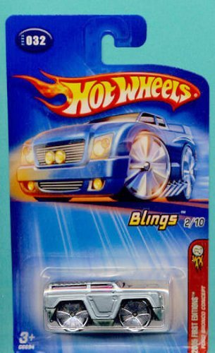Mattel Hot Wheels 2005 First Editions 1:64 Scale Blings Silver Ford Bronco Concept Die Cast Car #032