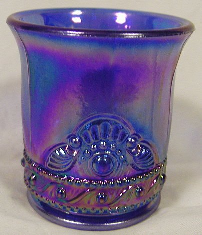Great American Glass Colorado Cobalt Blue Carnival Glass Toothpick Holder Cobalt Blue Carnival Glass
