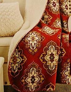 Better Homes And Gardens Sherpa Fleece Damask Medallion Velvet Plush Throw Home